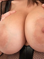 Sensual Jane - A Cream Injection For A 34DDD Brunette